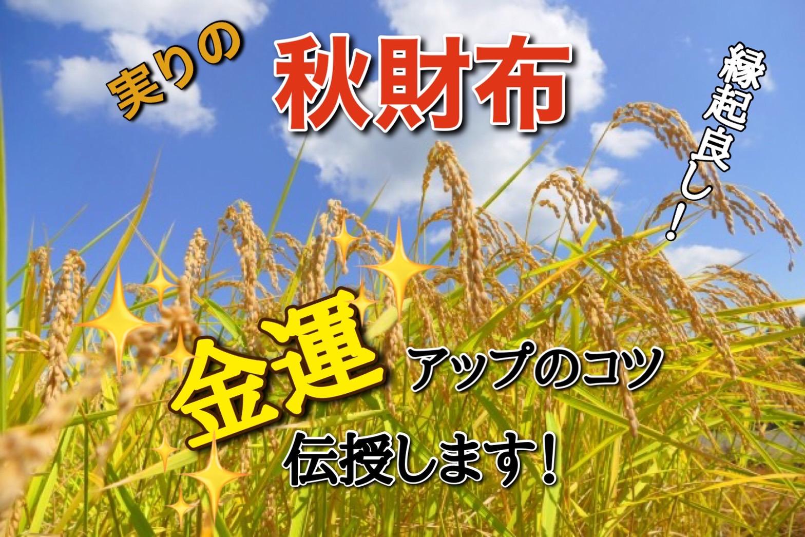 「縁起良し!実りの秋財布」で金運アップ!